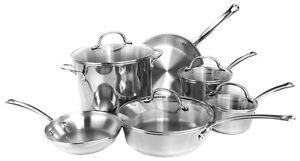 NEW-FARBERWARE-75653-Millennium-10-Piece-Kitchen-Cookware-Set-Pots-Pans-Tulip
