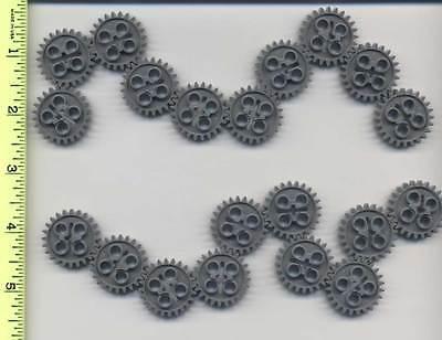 LEGO x 20 Dark Bluish Gray Technic, Gear 24 Tooth (New Style) Mindstorms