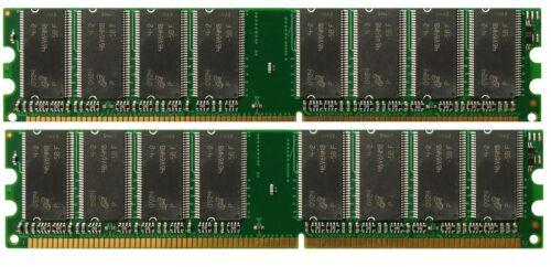 2GB 2x1GB Memory Intel D865PERL PC2700 DDR NON-ECC