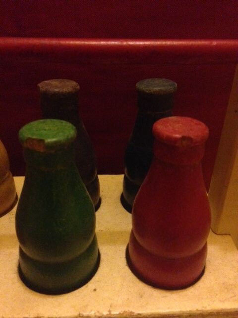 Antique Holgate Toy Toys Milk Cola Bottle Carrier Wooden Pull Toy Holgate  H1146 RARE FIND 26510e