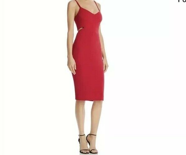 Laundry by Shelli Segal damen Magenta Cut Out Crepe Cocktail Dress 14