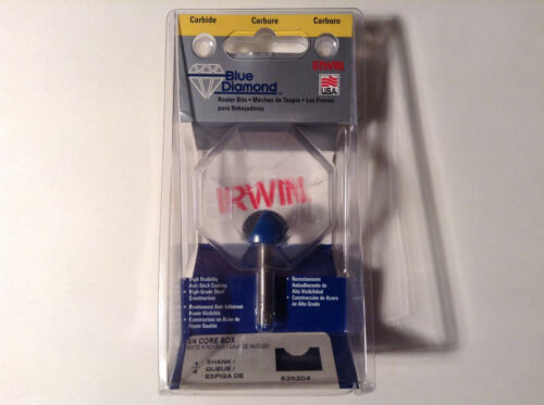 """Irwin 520204 Carbide 3//4/"""" Core Box Router Bit"""