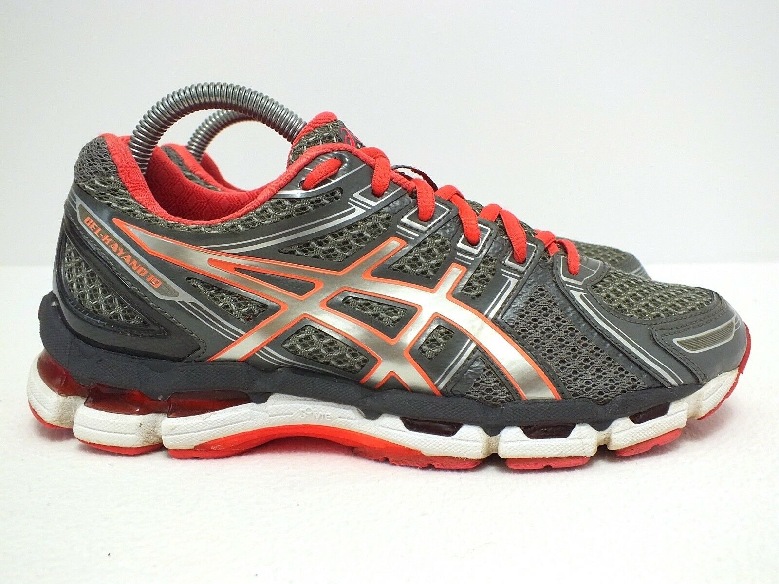 Asics Gel Kayano 19 Women's Running Shoes Gray/Orange Comfortable The latest discount shoes for men and women