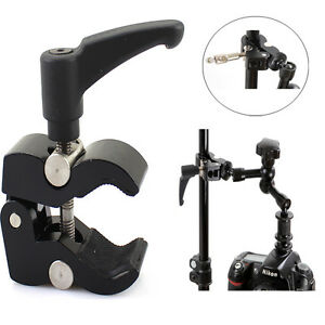 Articulating-Magic-Friction-Arm-Small-Super-Clamp-Crab-Pliers-Clip-DSLR-Camera