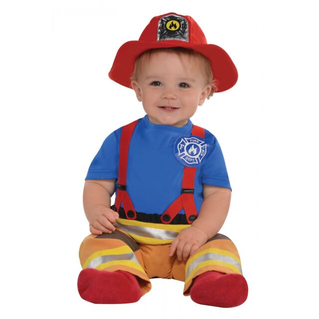 Baby Firefighter Costume Fireman Halloween Fancy Dress