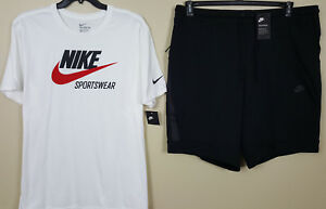 NIKE TECH FLEECE SHORTS SLIM FITRED HEATHER BLACK RARE 805160-602 SIZE 3XL