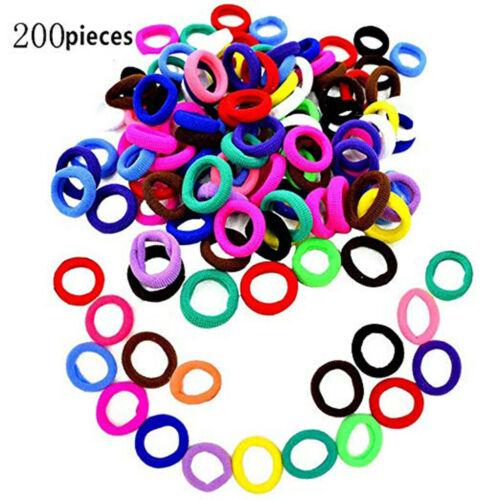 200Pcs//100pcs Girl Elastic Hair Ties Band Rope Ponytail Bracelet Rubber String