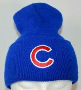Chicago-Cubs-Baseball-MLB-Winter-Stocking-Cap-Beanie-Hat-Blue-Unisex-One-Sz-EUC
