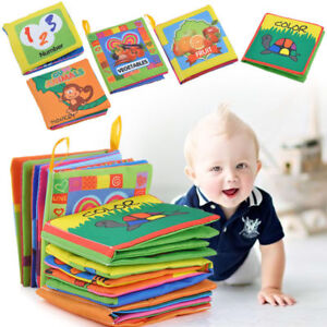 For-Kid-Baby-Intelligence-development-Cloth-Bed-Cognize-Book-Educational-Toys