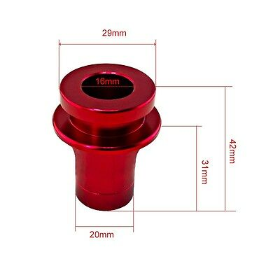 Red DEWHEL Shift KNOB Boot Retainer//Adapter for Manual Gear Shifter Lever 10X1.25