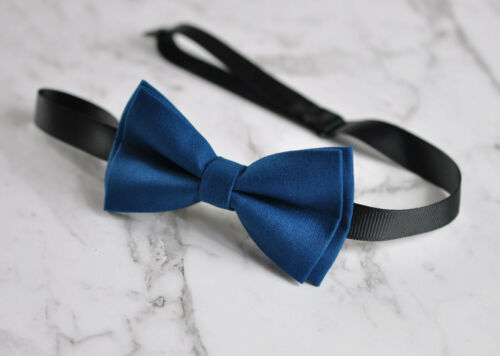 Baby Boy Kids 100/% Cotton Handmade Navy Blue AND Grey 2 Layers Bow Tie Bowtie Party Wedding Fits 1-6 YEARS OLD