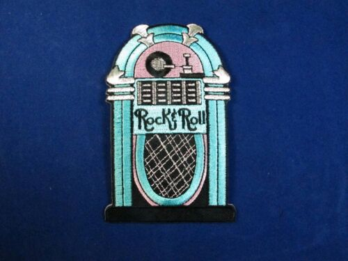 Blue,Pink Rock Roll Embroidery Iron On Applique Patch
