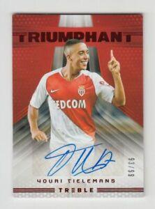 2018-19 Panini Treble Soccer Autograph Auto Card : Youri Tielemans #93/99