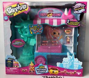 New-Shopkins-World-Vacation-USA-SPK-Hotdog-Stand-Shoppies-Set-Mini-amp-Exclusive
