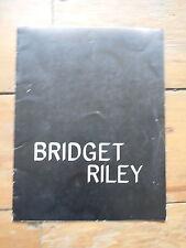 BRIDGET RILEY. recent paintings & drawings. catalogue. New York 1975. vasarely