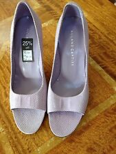 Roland Cartier 'Jelly Baby' Leather Lilac Peep Toe Shoes UK 6
