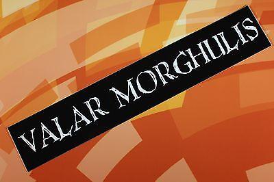 Valar Morghulis Game of Thrones vinyl sticker car laptop bike bumper