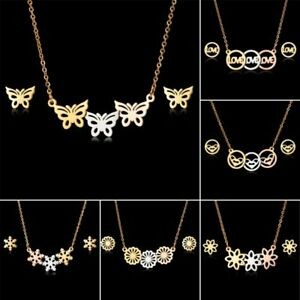 Chic Fashion Crystal Butterfly Pendant Women Sweater Necklace Long Chain Jewelry