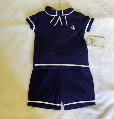 Baby Boy Boutique Sailor Outfit 6//12 Months