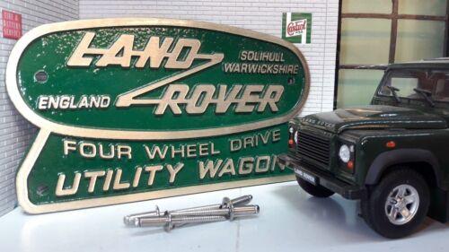 Laiton Bronze Vert Pot Héritage Arrière Badge Land Rover Defender 110 90