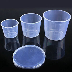 Image Is Loading 1Set 3in1 Portable Transparent Plastic Fishing Measuring  Cup