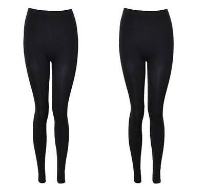 Womens Black Long Nutshell 1401 Casual Pilates Yoga Gym Leggings S M Xxl Ebay