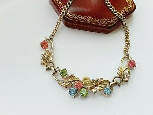 Vintage-16-034-Gold-Tone-Paste-Necklace