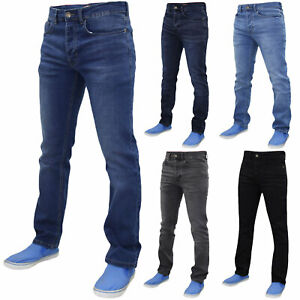 Mens-Slim-Fit-Jeans-Skinny-Stretch-Denim-Cotton-Casual-Pants-Trousers-Bottoms