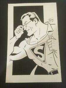 OA-Original-Art-SCOTT-CHANTLER-Superman-sketch-2008-DC-Comics-11-x-17