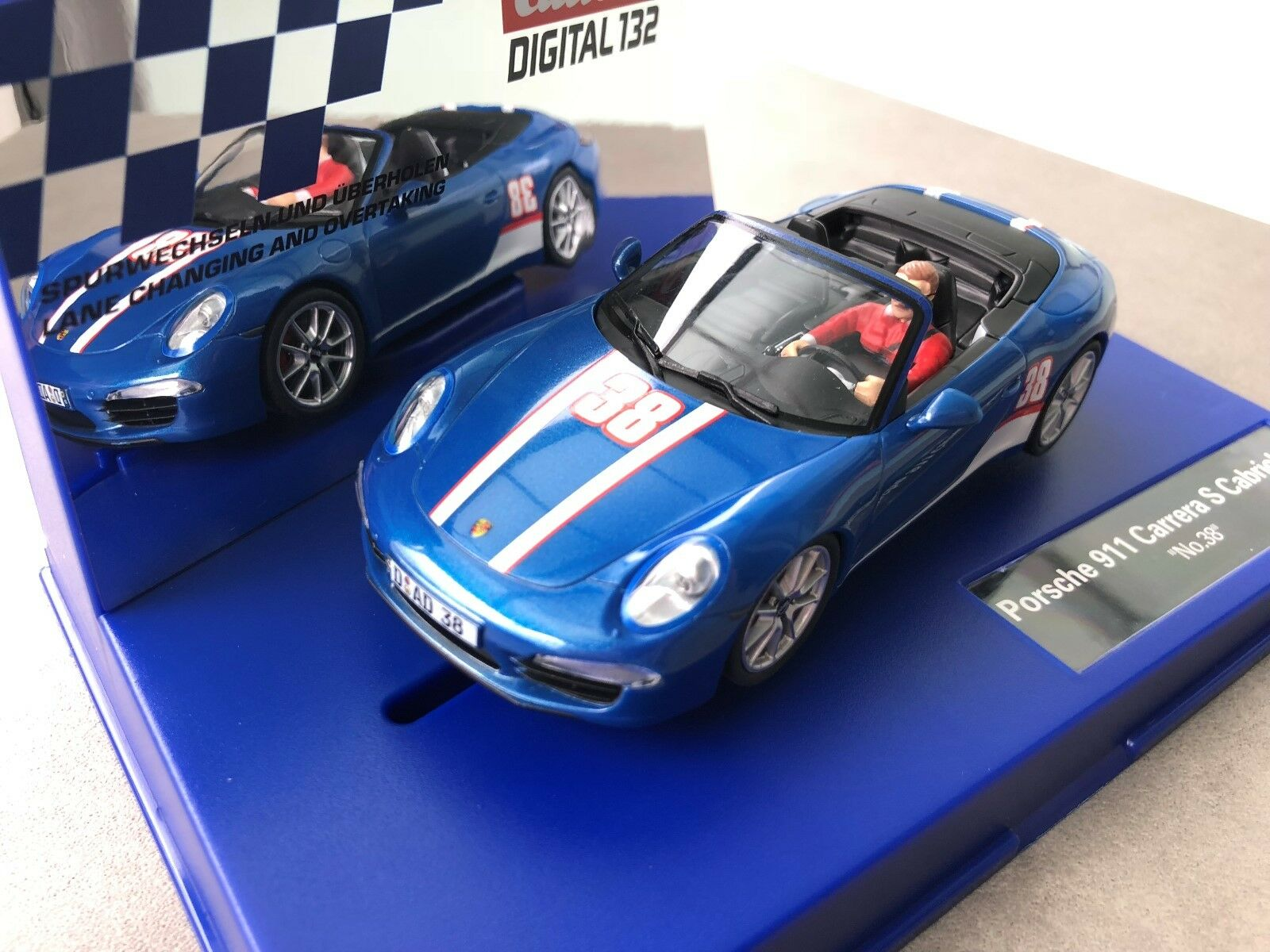 Carrera Digital 132 30789 PORSCHE 911 S Cabriolet   N° 38   NUOVO conf. orig.