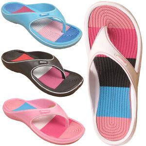 Donna-CURSORI-Infilare-Spiaggia-Doccia-Impermeabile-Sandalo-Pantofola-TG-UK