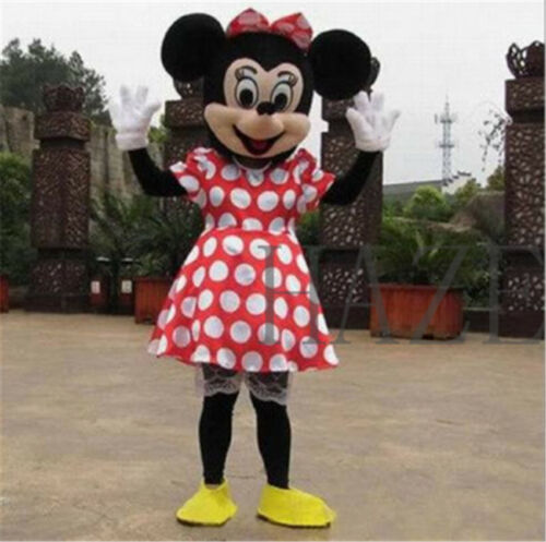 MICKEY MOUSE /& MINNIE MOUSE mascot costume Cosplay Fancy Dress Suit Adult