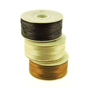 NYMO-Beading-Thread-Size-D-for-Delica-Beads-Brown-Champagne-amp-Golden-64-Yd-ea