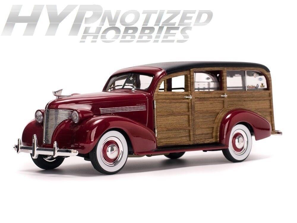 SUNSTAR 1 18 Américain de Collection 1939 Woody Surf Wagon avec Planche Ss6176