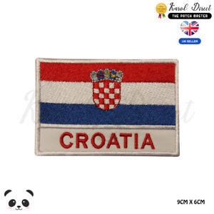 CROATIA-National-Flag-With-Name-Embroidered-Iron-On-Sew-On-Patch-Badge