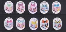 JAPAN 2013 DISNEY CHARACTERS GREETING 50 YEN COMP. SET OF 10 STAMPS IN FINE USED