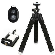 Mini Flexible Tripod Stand + Phone Holder + Remote Control For iPhone Cell Phone