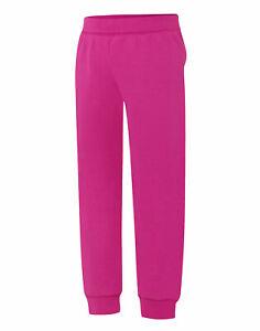 Hanes Jogger Sweatpants Girls Kids ComfortSoft EcoSmart medium weight 5 Colors