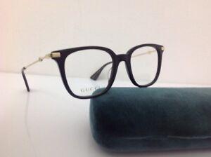 Gucci-occhiale-da-Vista-uomo-md-0110-Nero-celluloide-metallo-Oro-290-elegante