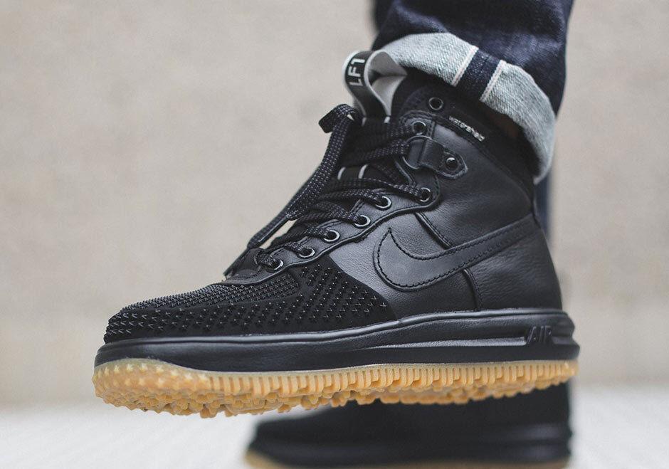 2018 Nike Lunar Air Force One 1 sneakerBotas duckBotas 805899-003 mas de goma negra modelo mas 805899-003 vendido de la marca 1d553a
