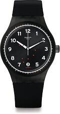 Swatch Originals Sistem 51 Gentleman Black Swiss Automatic Quartz Watch SUTF400