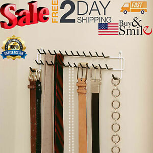 Details About Belt Rack Tie Holder Door Wall Mount Closet Organizer Scarf Necklace Hanger New