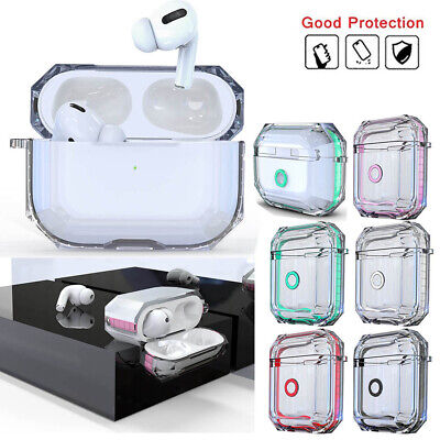 For Apple Airpods Pro Case Clear Cover Charging Earphones