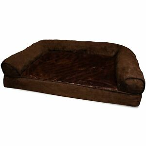 Lounge Sofa Pet Bed For Dogs And Cats Orthopedic Dog Couch Plush Espresso  Jumbo