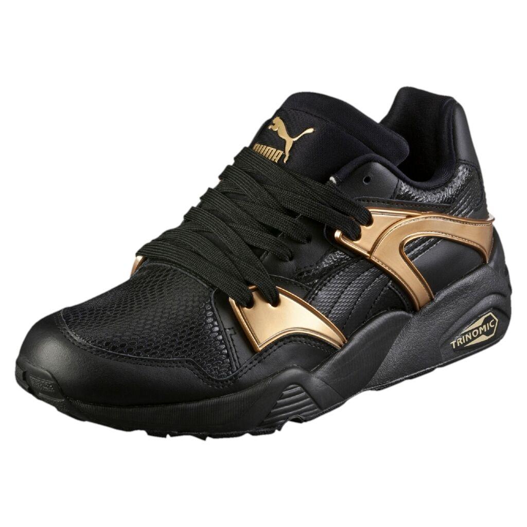 Women's Trinomic Blaze gold Trainers Black   362022-01   W Puma Textile