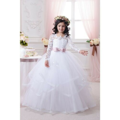 Wedding Party Dress Flower Girl Holy Communion Party Prom Princess Dress Pageant