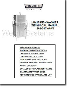 Details about Hobart AM15 Dishwasher Operator Instruction and Technical  Manual