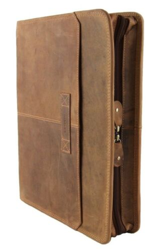 Harold/'s Schreibmappe 35*27*5 cm Rind-Leder RingBuch-Mappe Konferenzmappe 385403