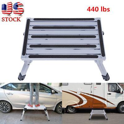 Portable Aluminum Platform Safety Step Stool Rv Trailer