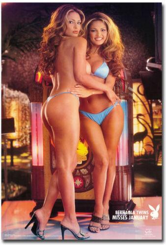 "Bernaola Twins Miss Playboy Jan 2001 Refrigerator Magnets Size 2.5/"" x 3.5/"""